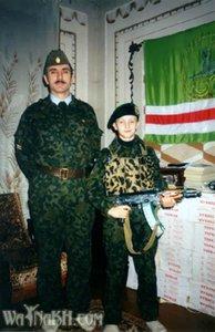 Освобождение Кавказа. Место действия — Чечня. Джохар Дудаев с сыном