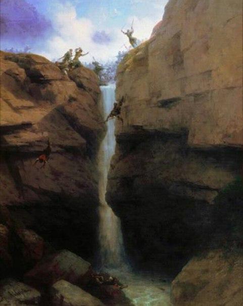Место прыжка Имама Шамиля через пропасть