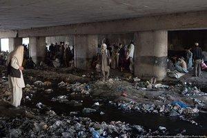 Афганистан — могила для НАТО. Кабул.Наркопритон под мостом