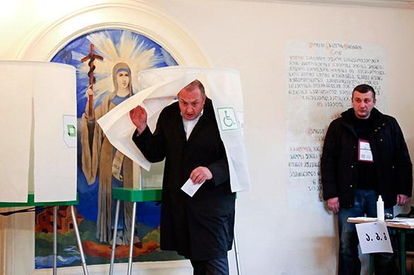 Выборы в Грузии завершились разгромом партии Саакашвили. фото: AP