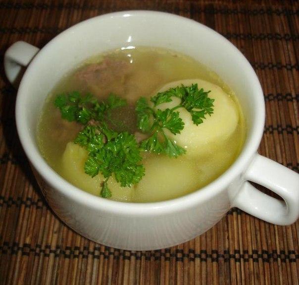 Суп картофельный с вяленым мясом