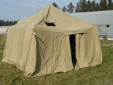 Хаберу в палатке некомфортно?
