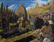 Что значит образ из Нартского эпоса:  Посвящение Коня покойнику ?