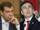 Medvedev talking to Saakashvili: virtual exchange of amenities