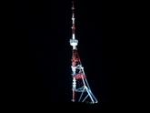 Тбилисская телевышка во тьме