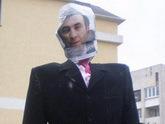 МВД на страже чучела Саакашвили