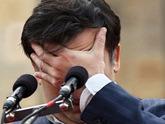 Под угрозой - фрагмент лица Саакашвили