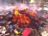 Дым утилизации над Цхинвалом