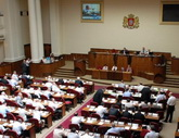 The Georgian parliament goes off into a worldwide hysterics