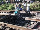 A railway explosion matching the Mukhrovani mutiny?