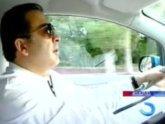 Саакашвили прокатил народ на электромобиле