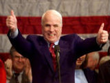McCain throws himself on Georgia's embrasure
